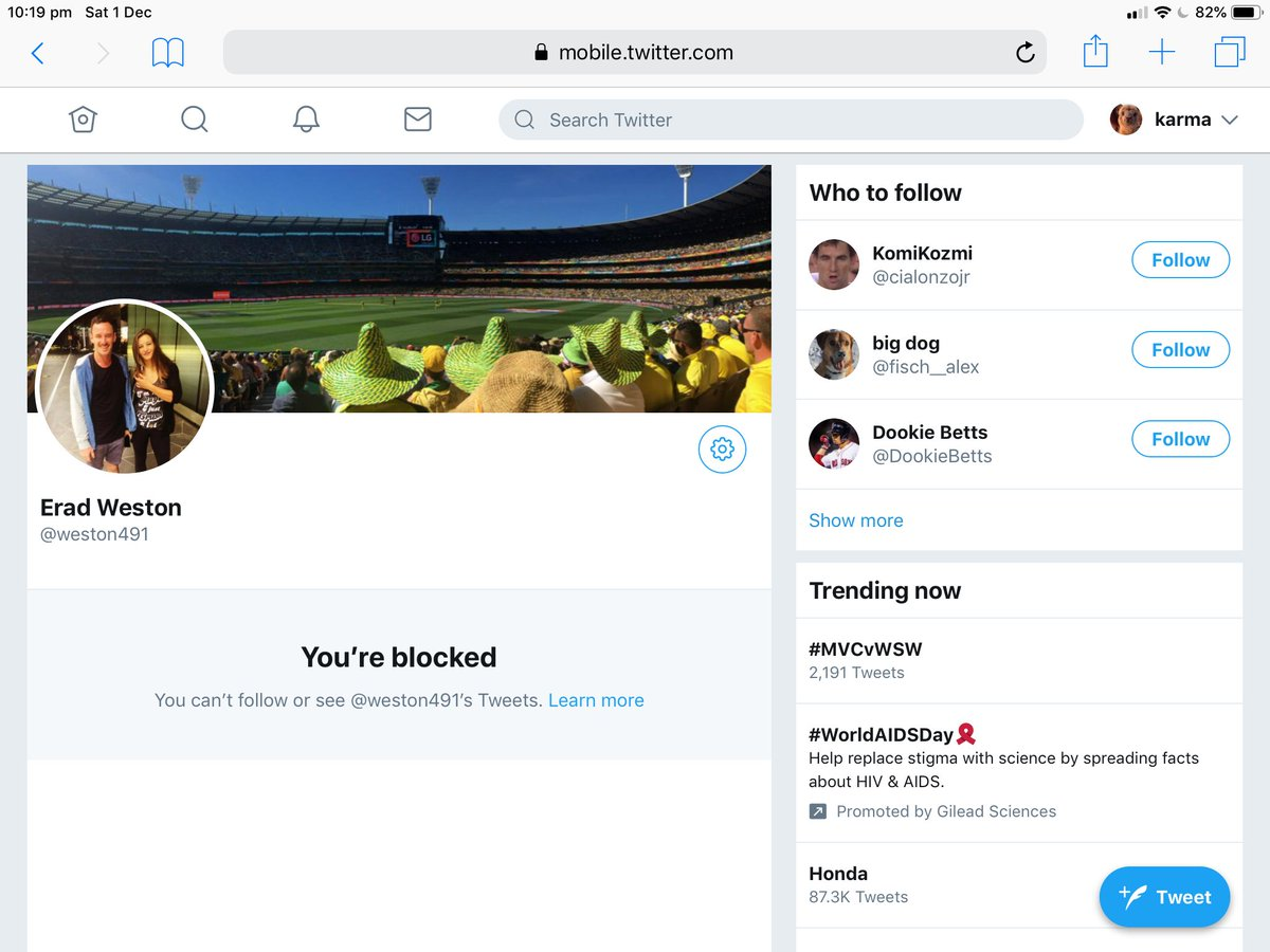 If he didn't have any issues with posting his original tweet why block me? Only seems like a terrible thing to do once you call a person out to his peers @weston491pic.twitter.com/Dm7fXBHZ00