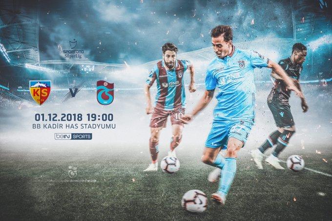 🔥 MAÇ GÜNÜ 🔴🔵 MATCH DAY ⚽ Kayserispor 🆚 Trabzonspor 🗓 Cumartesi ⏰ 19:00 🏟 Kadir Has Stadyumu 📺 beIN Sports 📲 #BugünGünlerdenTrabzonspor Fotoğraf