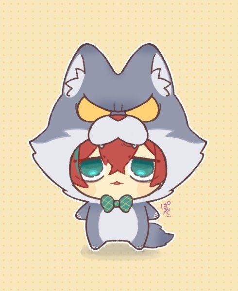 ぱかた スタンプ出たよ たっちん Yumitaco1 の着ぐるみをようやくおまんじゅうに着せることができました 狼は以前私が描いたイラストを元に作ってくれたよ 似合ってるねどっぽちん 尻尾も 可愛いんだ