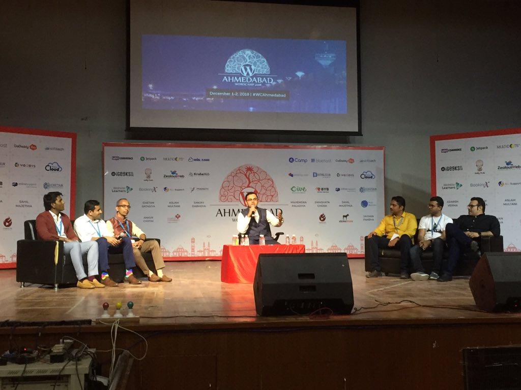 test Twitter Media - Most awaited session of Panel Discussion started at #WCAhemdabad  by @vatsalshah with @anilgupta35 @niravmehta @SujayPawar @Asif2BD @jayminbhuptani and Ronik Patel https://t.co/BIHRDi2vTE
