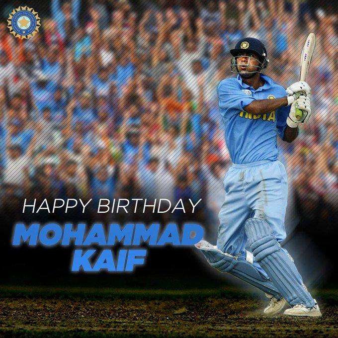 Happy Birthday One of The India Greatest Fielder !!! Mohammad Kaif