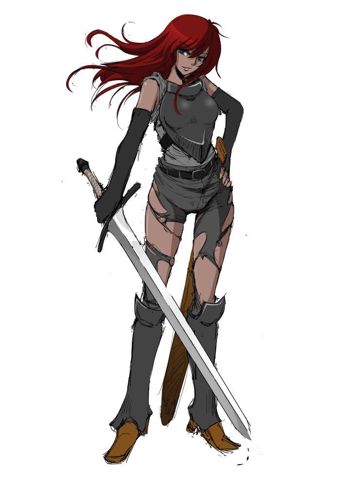 エロアニメ 眼帯 赤い髪 山賊