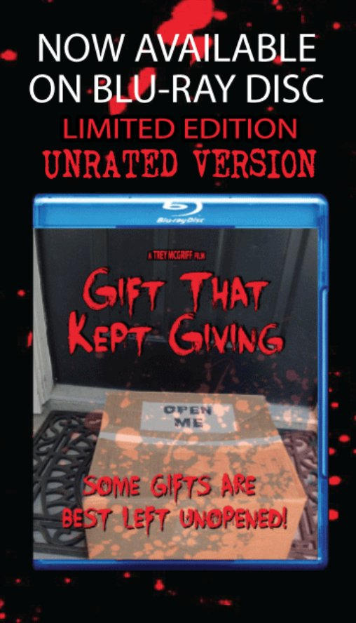 Welcome to #December! A perfect time to watch GIFT THAT KEPT GIVING, #NowPlaying @itunes and also available on Blu-ray! https://itunes.apple.com/us/movie/gift-that-kept-giving/id952319068… #iTunes #HorrorMovies #GiftThatKeptGiving pic.twitter.com/fFjHPXbeQ0