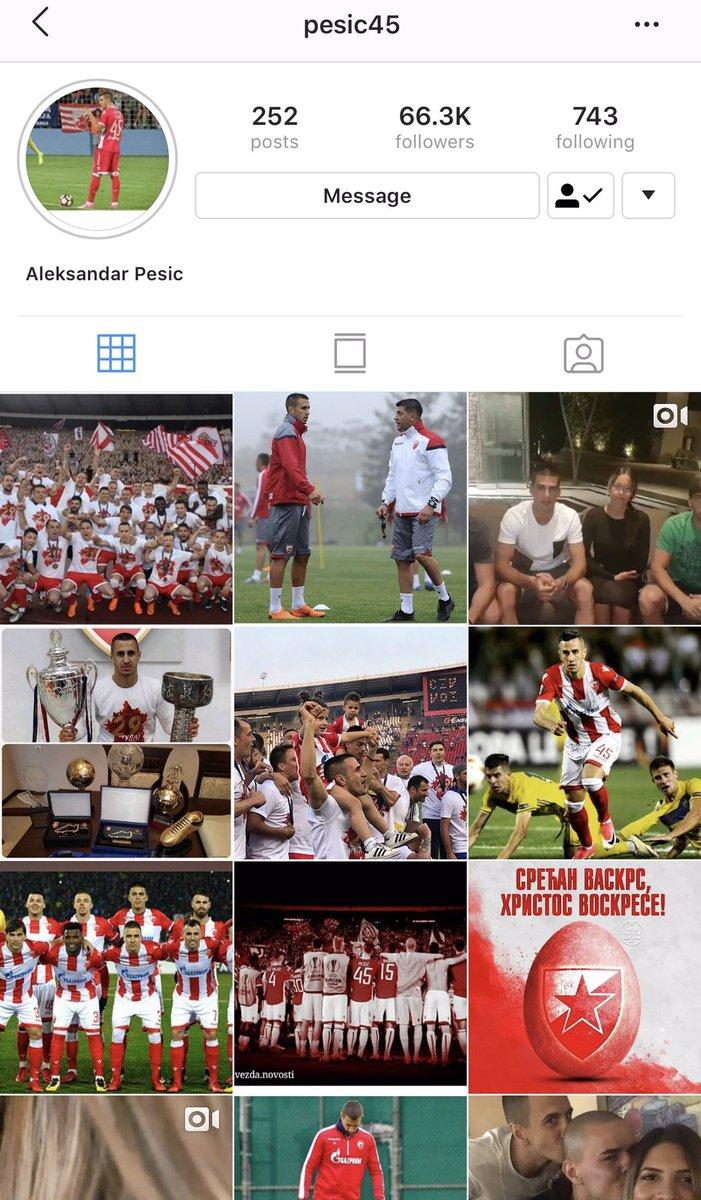 الكسندر بيزيتش قام بحذف جميع الصور المتعلقه بالاتحاد في حسابه في الانستقرام !