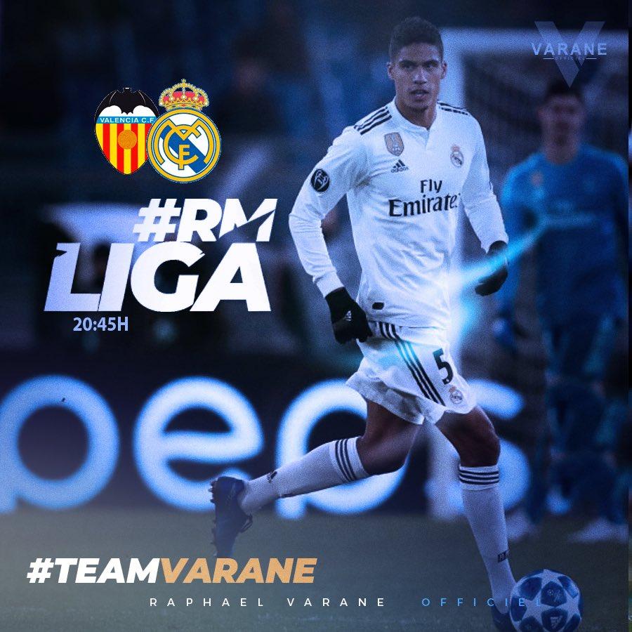 ⚽️🏟 Match VS Valencia CF #RMLiga #TeamVarane