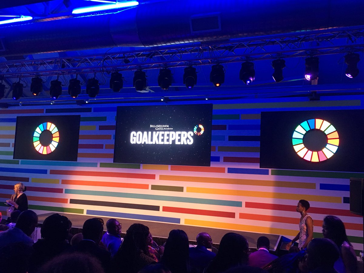 Taking a stand to push for communities to achieve the #SDG #GlobalGoals  #GoalKeepers18 #GlobalCitizens