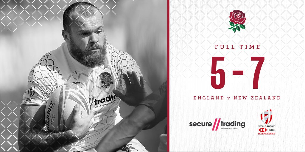 Its full time in Dubai and England have been narrowly beaten by @AllBlacks7s in the semi finals of the #Dubai7s 🌹