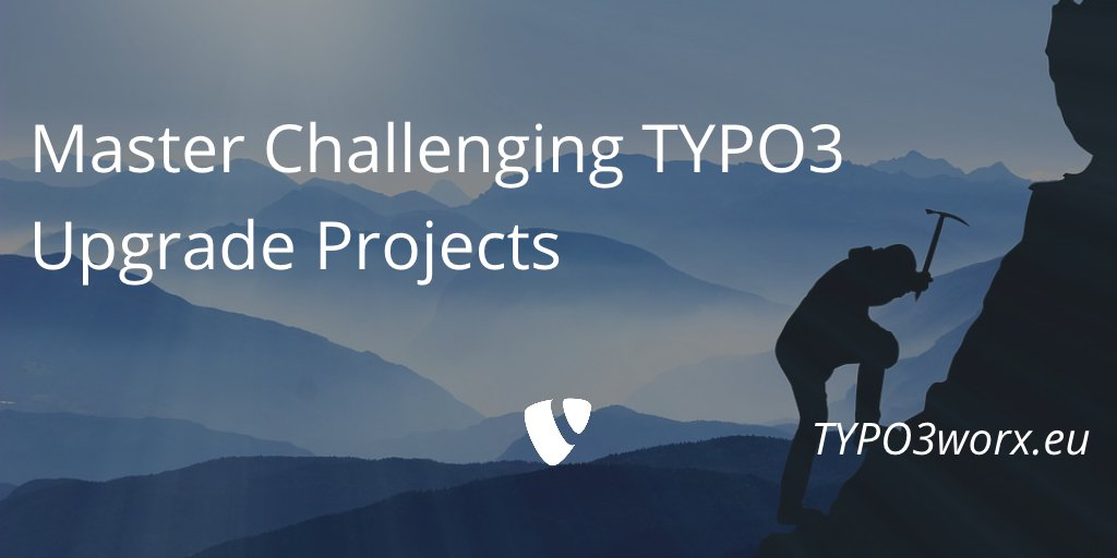 RT @MarcusSchwemer: [BLOG] Master challenging TYPO3 upgrade projects https://t.co/iMEl0jSXIW https://t.co/haF5hwtxpj