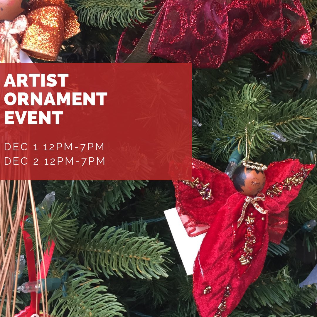 Today is our 10th Annual Artist Ornament event. Featuring #blackdolls, ornaments, And holiday cheer from  Carole Brothers Paula Whaley Tonia Mitchell Tamara Thomas Daisy Carr Oumar Cisse   And more: 1524 U Street NW