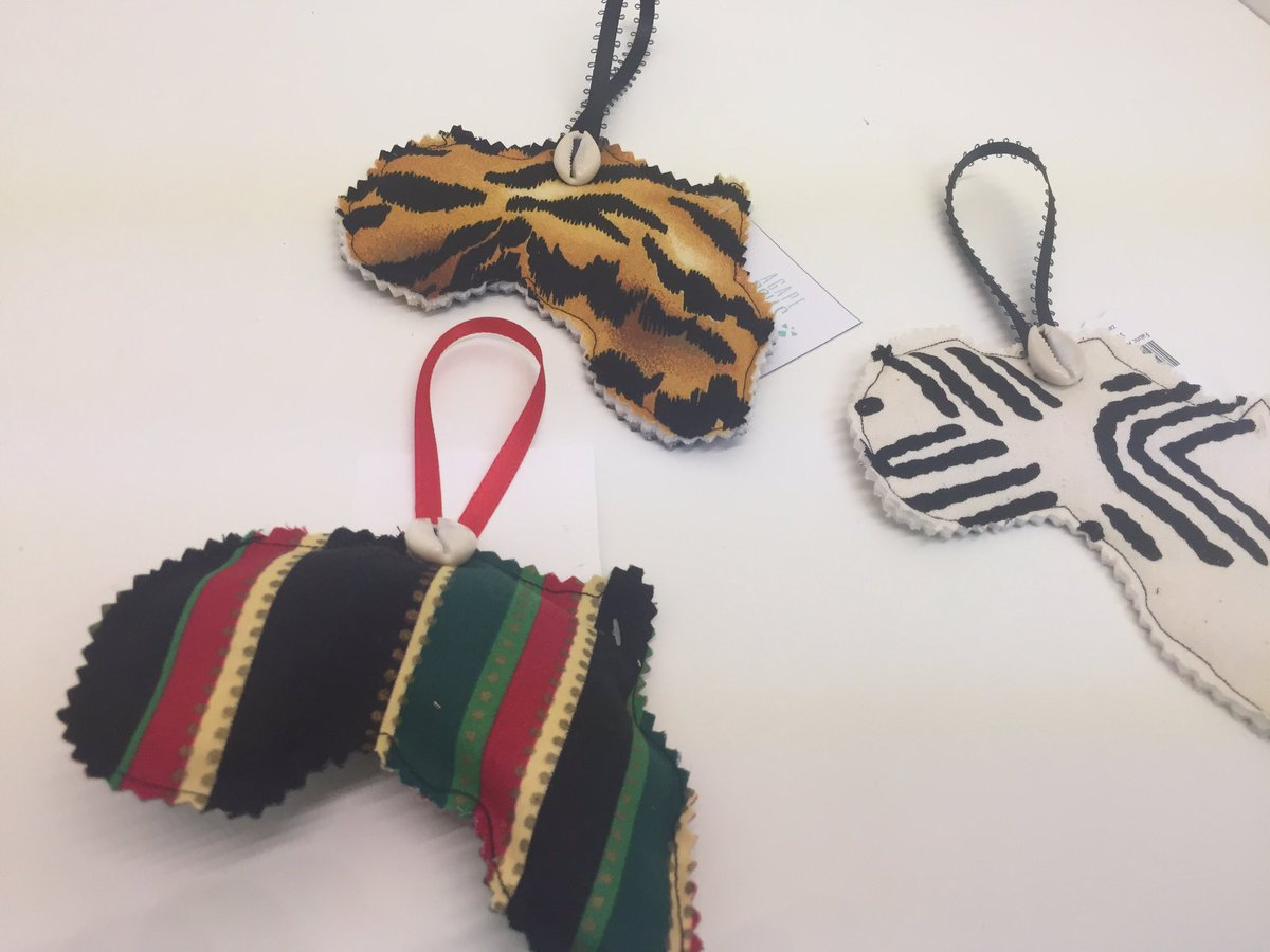 Africa Holiday Ornament I'm mudcloth, stripe, and animal print