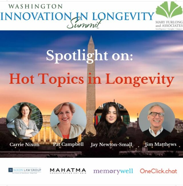 At the #DCInnovate Summit, hear from experts about the trending topics that concern older adult consumers & the companies who serve them. Get new insights & hear firsthand how these trends are impacting the market right now: http://www.washingtoninnovationsummit.com