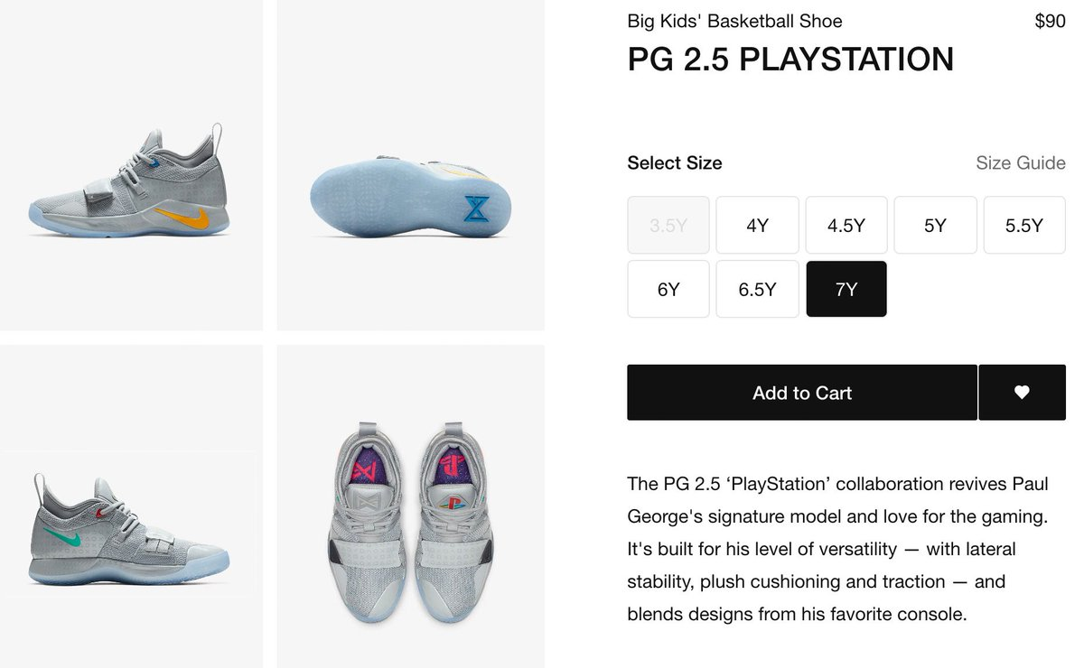f042713ebada Grade School PlayStation x Nike PG 2.5 now on regular Nike site with FREE  shipping https   go.j23app.com 9yt https   go.j23app.com 9yt ...
