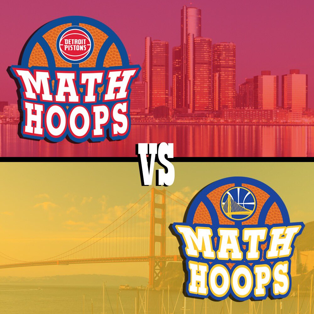 Today's #MathHoopsMatchup features the last two hosts of the NBA Math Hoops National Championship! The @warriors will again play host to this signature event in 2019.
