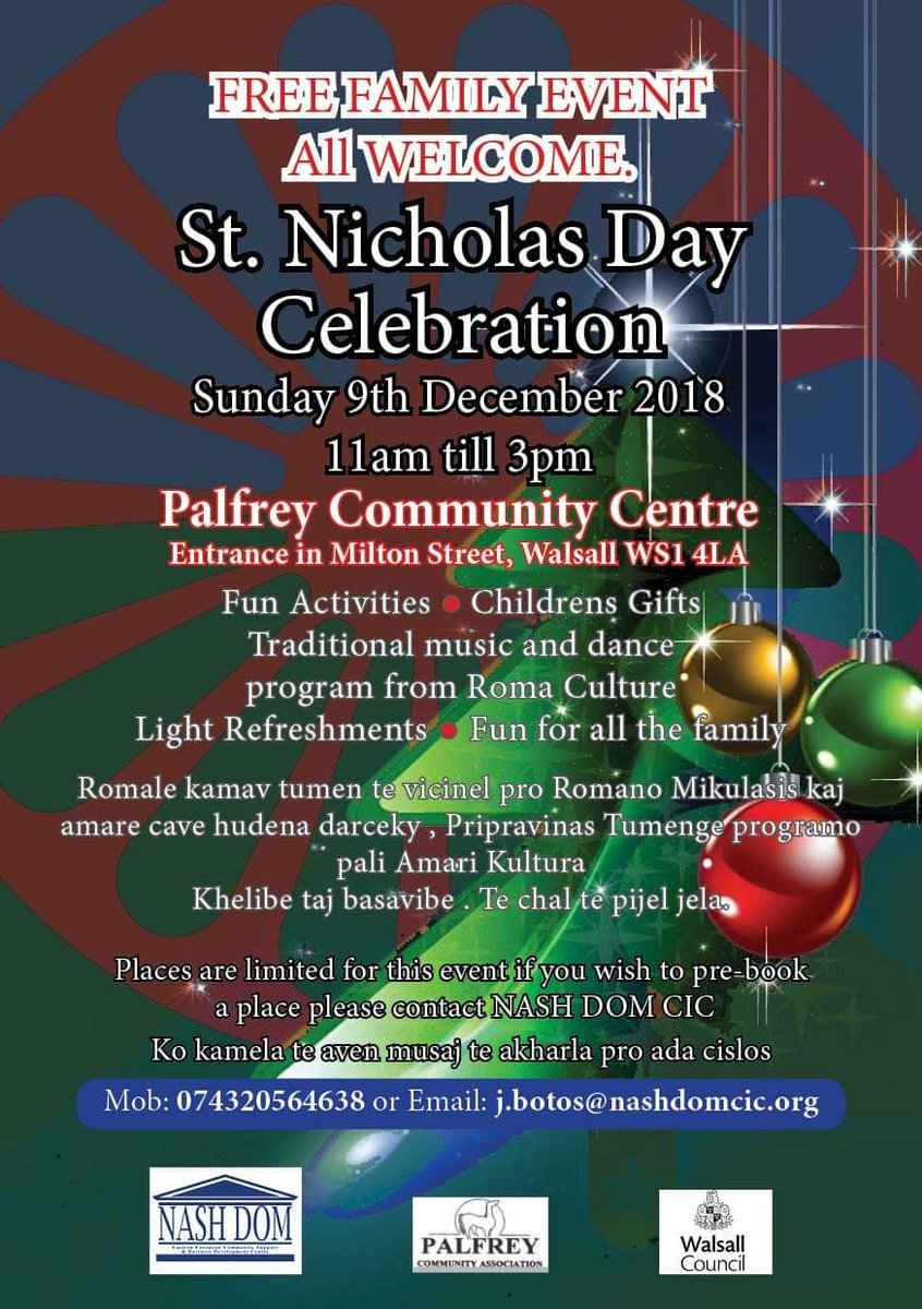 Why not check out the St Nicholas Day celebrations in Palfrey next