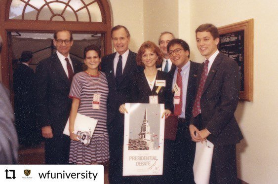 @wfuniversity - - - - - - We remember Pres. George H.W. Bush, whose visits to campus − including the 1988 Presidential Debate in Wait Chapel − gave students, faculty & staff a front-row seat to American politics in the 1980s. Rest In Peace. 🇺🇸 Read m… https://t.co/2K12mGiUnq