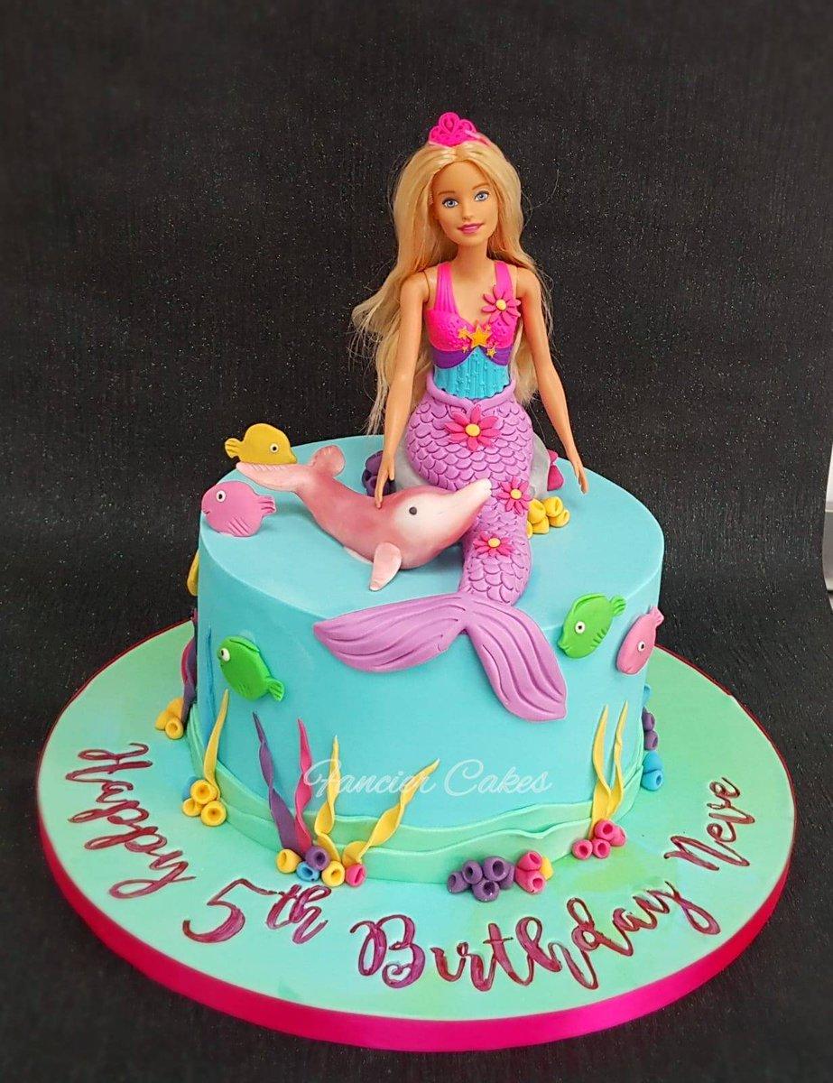 Awe Inspiring Fancier Cakes On Twitter Beautiful Dolphin Magic Barbie Mermaid Funny Birthday Cards Online Alyptdamsfinfo
