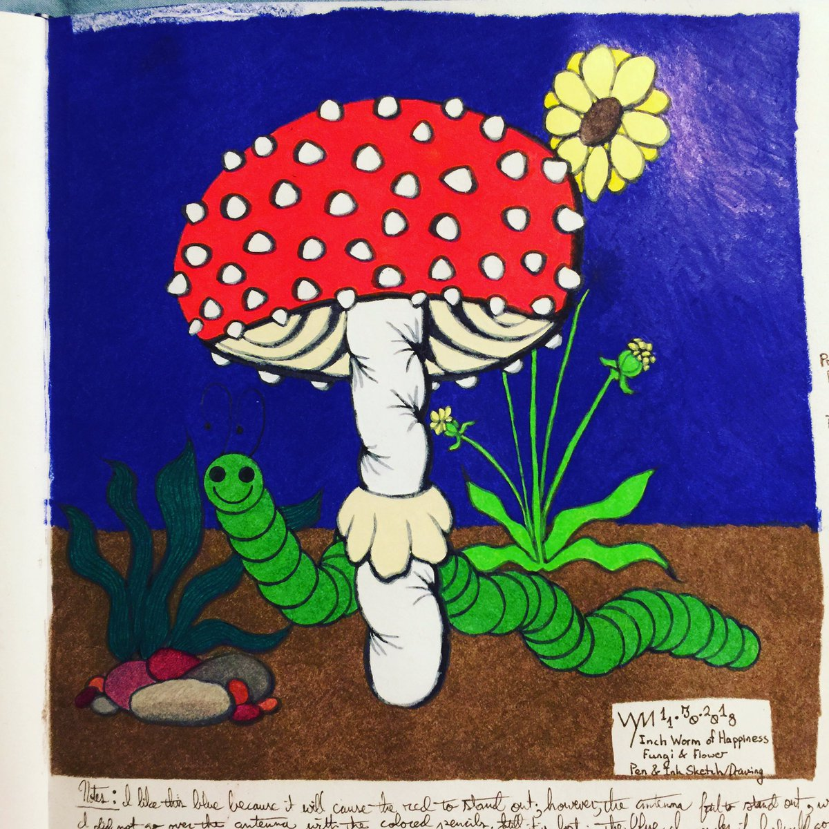 #wynart #InchWormofHappiness #fungi #mushroom #art #traditionalart #traditionaldrawing #drawing #coloredpencils #penandink #prismacolor #cansonpic.twitter.com/Y9Kl7f061t