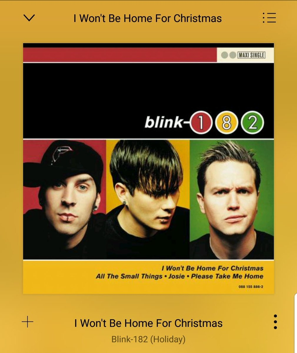 Blink 182 I Won T Be Home For Christmas.Katey On Twitter It S December 1st Which Means This Is