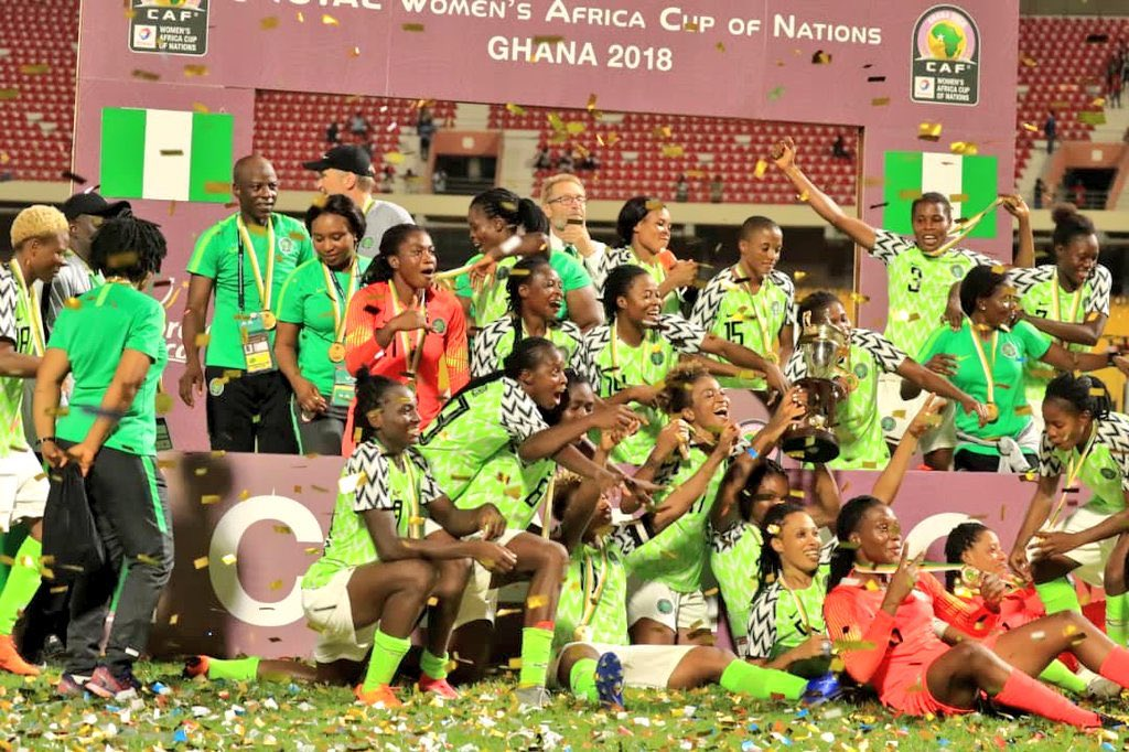 We fly high, no lie, you know this!! Congrats to our @NGSuper_Falcons on that major achievement! 🇳🇬🦅💚