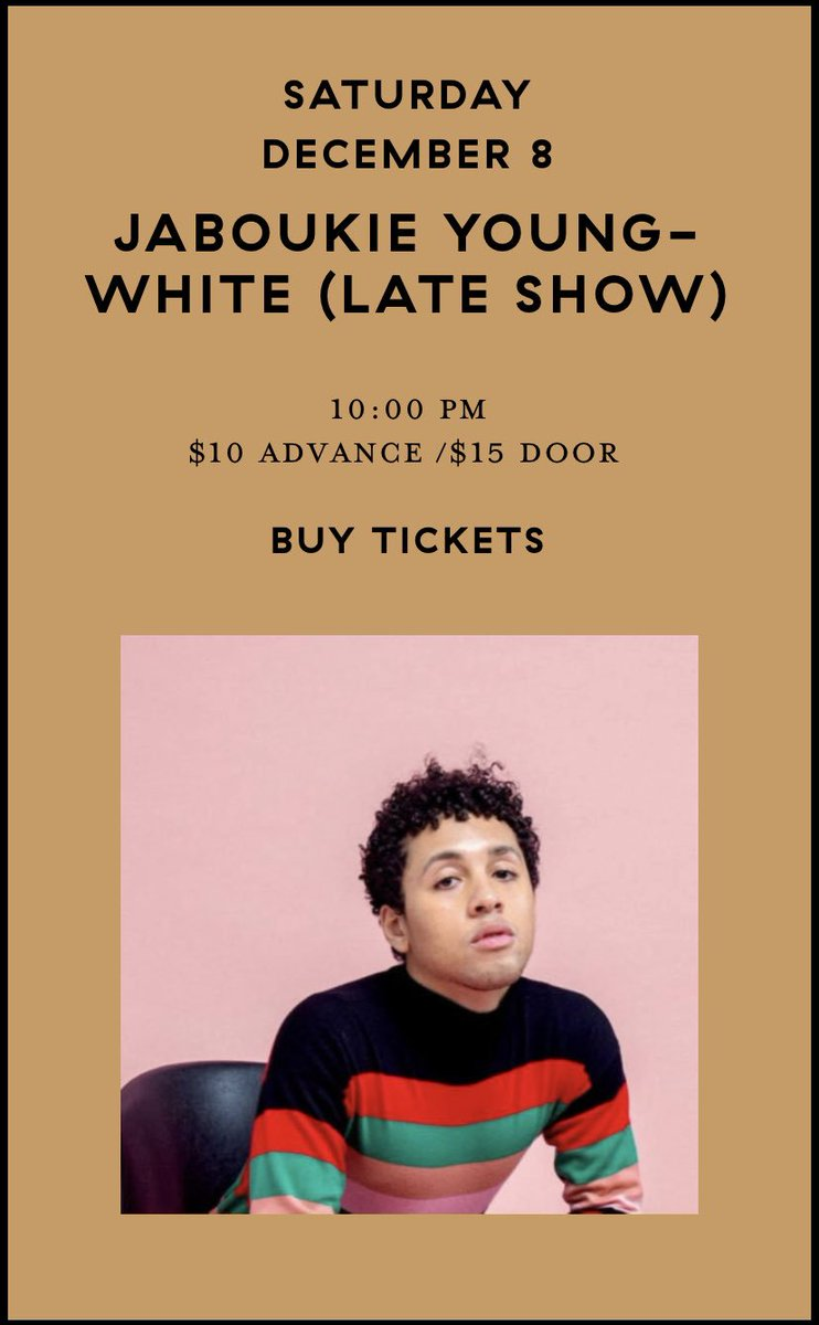 first show sold out!!!! added a second show. get ur tix quick before this sells out too sleeping-village.com/calendar/jabou…