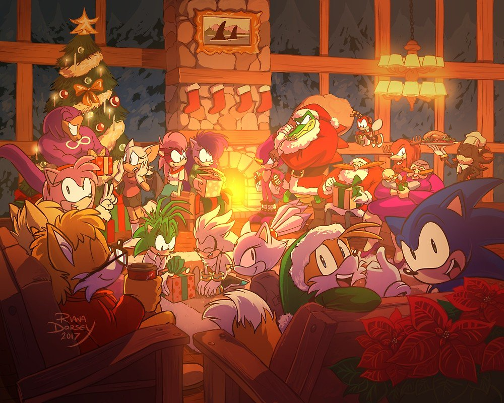 Image result for Christmas with sonic