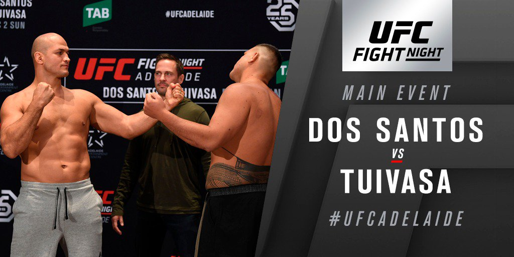 UFC Fight Night 142 Dos Santos vs. Tuivasa Results - JDS Stops Tuivasa with Ground & Pound -