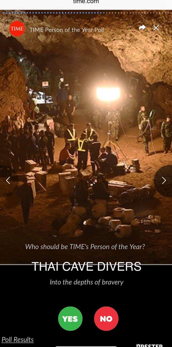 Please voteThe 2018 Person of the Year readers' poll ไปกด yes ให้ #ThaiCaveRescue กันเถอะ ใน  #thamluang #thainavyseal #หมูป่าอะคาเดมี่