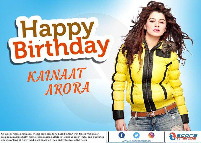 Score Trends wishes Kainaat Arora a Happy Birthday!!