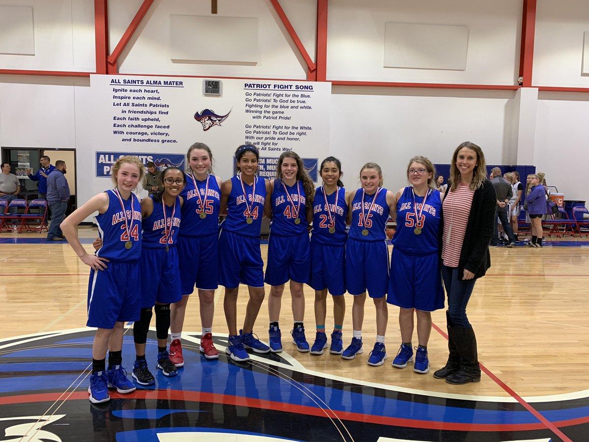 Congrats All Saints 8th Grade girls on winning the All Saints 8th Grade Tournament Championship!@AllSaintsPride