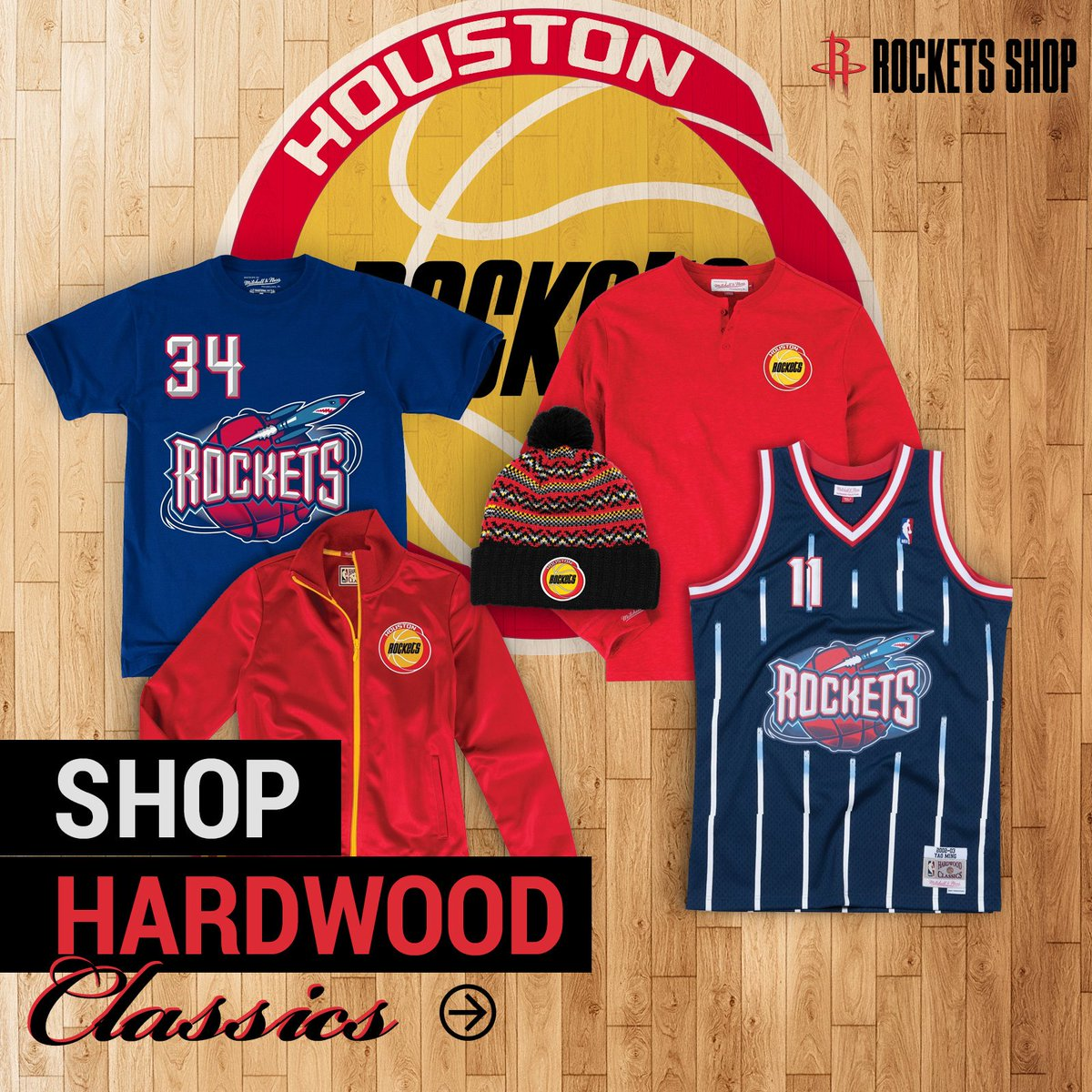 Re-live the birth of Clutch City and shop our Hardwood Classic Collection! 🚀» bit.ly/ClutchCityClas…