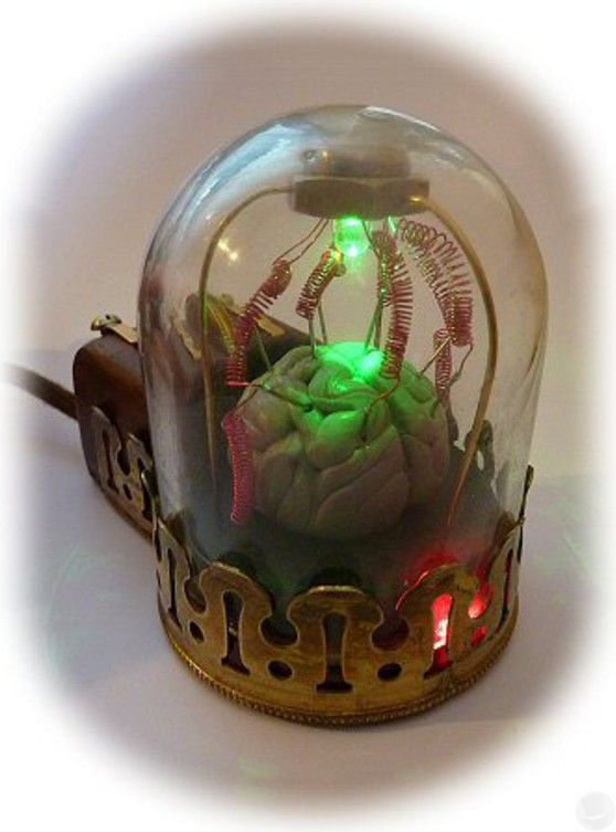 #Geek 🤓 Awesome of the Day: #Steampunk ⚙️ 'Brain 🧠 in jar' #Computer Mouse 🖱️ by Peter Balch via @steampunkjnkies #SamaGeek #SamaCuriosities 👀