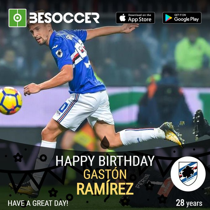 Happy birthday to Gastón Ramírez!
