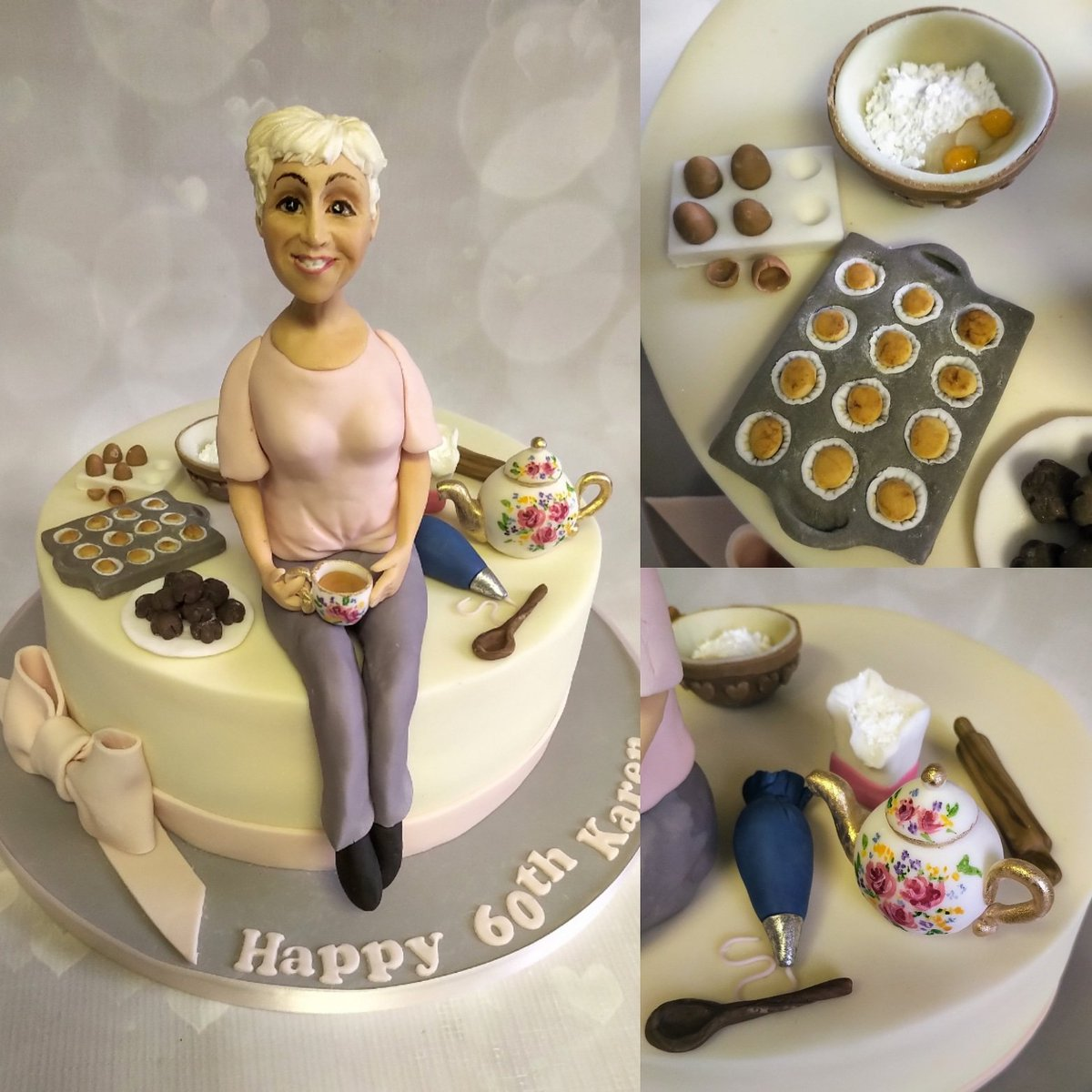 Liverpool Cake Co Auf Twitter 60th Birthday For A Lady Who Loves Baking And Tea Loved Making All The Little Paraphernalia Bits Bobs