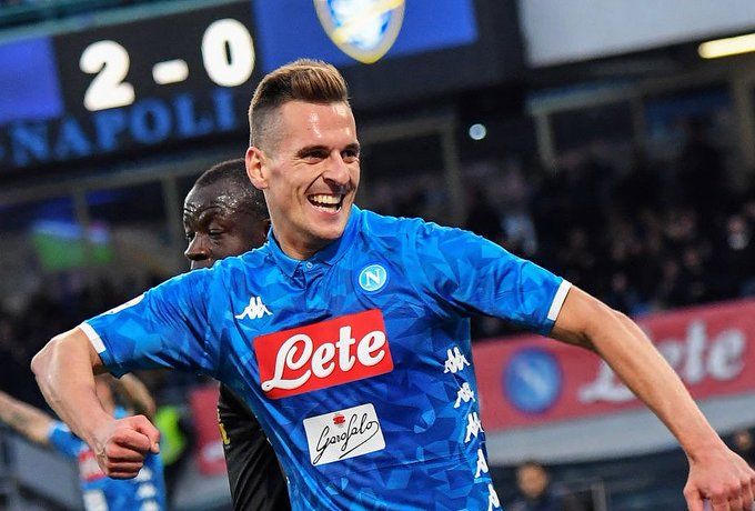📊 Milik in Serie A this season; 7 goals and 1 assist in 729 min. G/A every 91 minutes. Keep doubting him. 💪 #NapoliFrosinone Foto