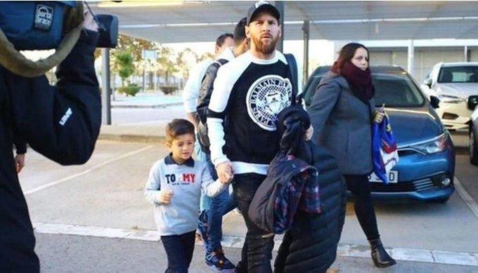Lionel Messi ya está en el estadio del Real Madrid Foto