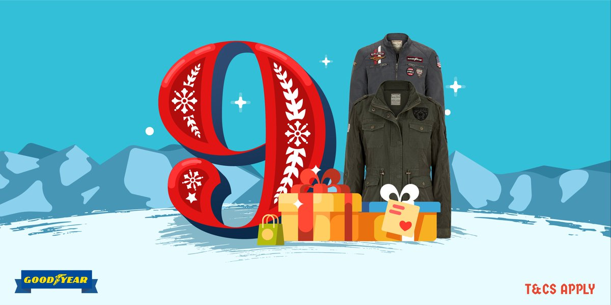 #Win 1 of 3 #Goodyear #jackets in Day 9 of #Kwikmas RT&F for a chance to #win a @goodyear_uk jacket to stay warm this #winter! #adventcalendar #competition #giveaway #xmas #christmas #Goodyear #kwikfit @Kwik_Fit #sunday #SundayThoughts