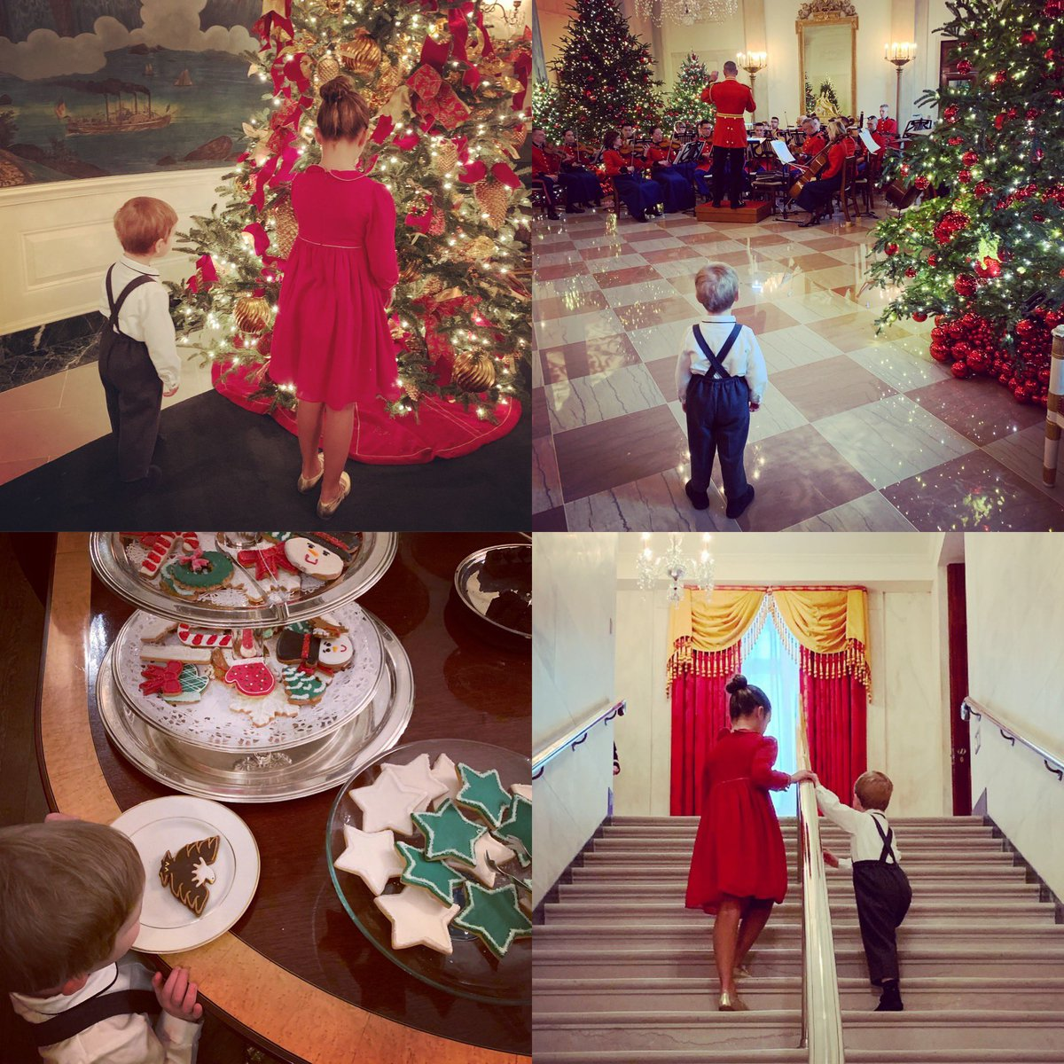 Holiday cheer at the White House🎄