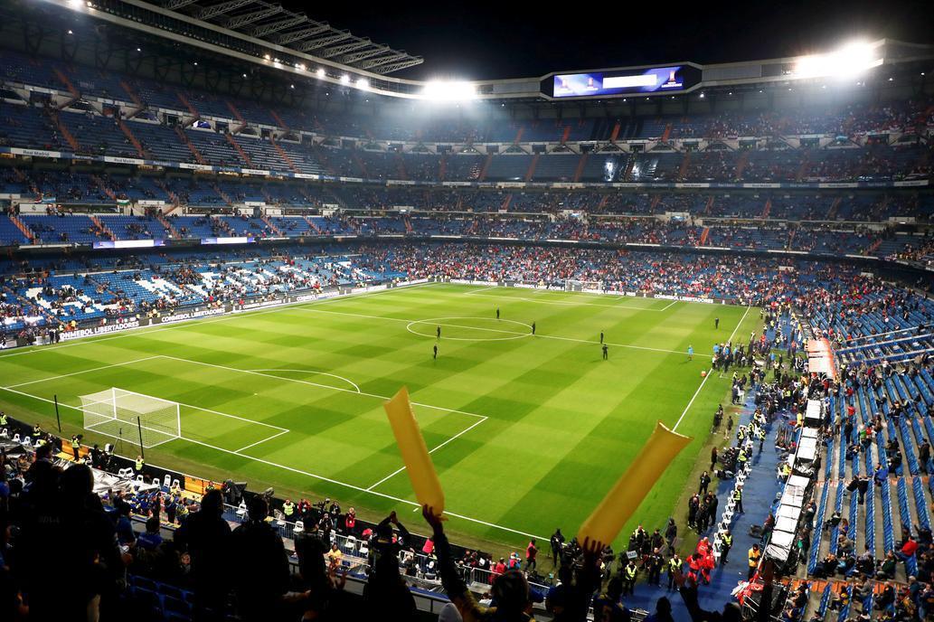 ¡Empezo! Ya se juega la final entre Boca y River en el Bernabéu  https://t.co/axgDxeWcVe