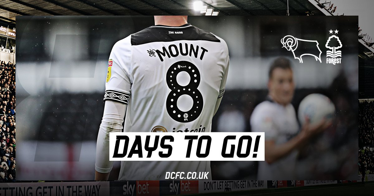 days until the East Midlands Derby.   @MasonMount_10 <br>http://pic.twitter.com/aOigWuH1ao