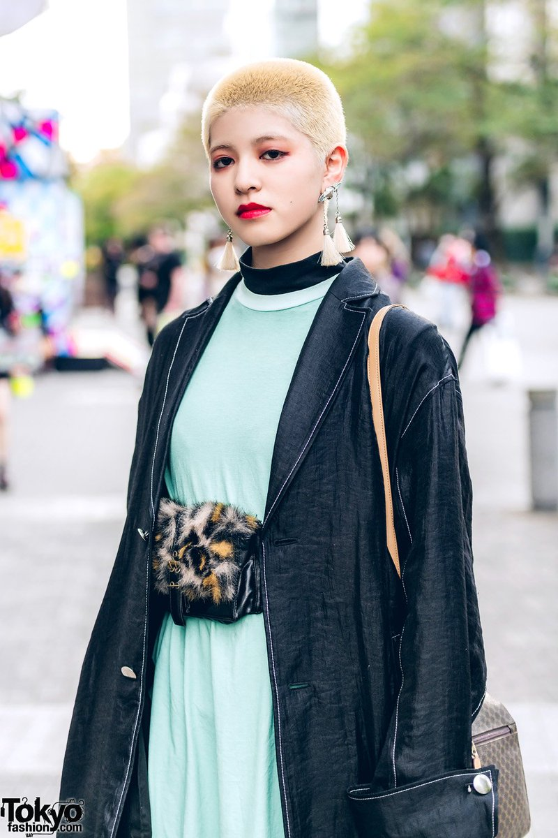 cbd01f9ad48 saki and rabu on the street in tokyo with short hairstyles and fashion  including a gvgv