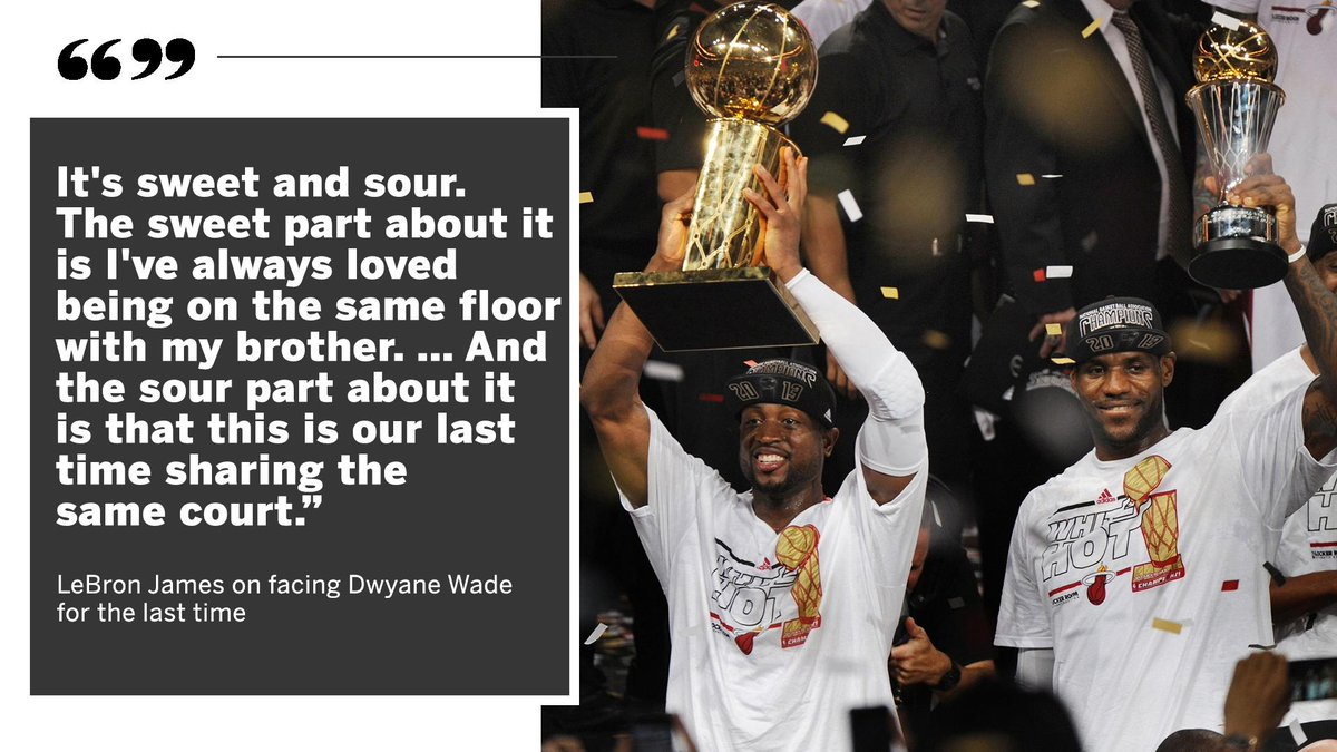 After 16 years of brotherhood on the court, Monday will be the final matchup between LeBron and D-Wade.
