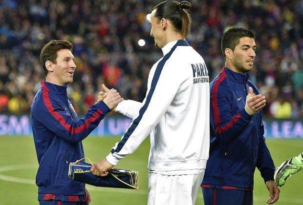 زلاتان إبراهيموفيتش عن جائزة #الكرة_الذهبية و بيريز : الآن نعرف أنه كان بيريز منافس #ميسي و ليس كريستيانو رونالدو 🔴 صورة فوتوغرافية