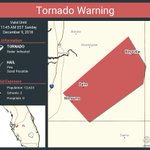 Image for the Tweet beginning: Tornado Warning including Wimauma FL,