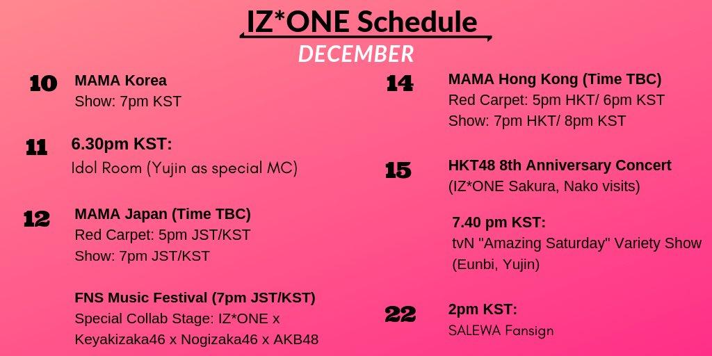 tmIZ* °•° IZ*ONE Schedule on Twitter: