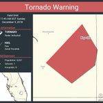 Image for the Tweet beginning: Tornado Warning continues for Keysville