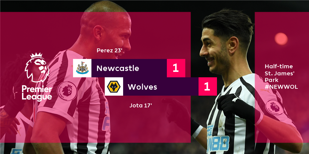 It's all to play for going in at the break  #NEWWOL