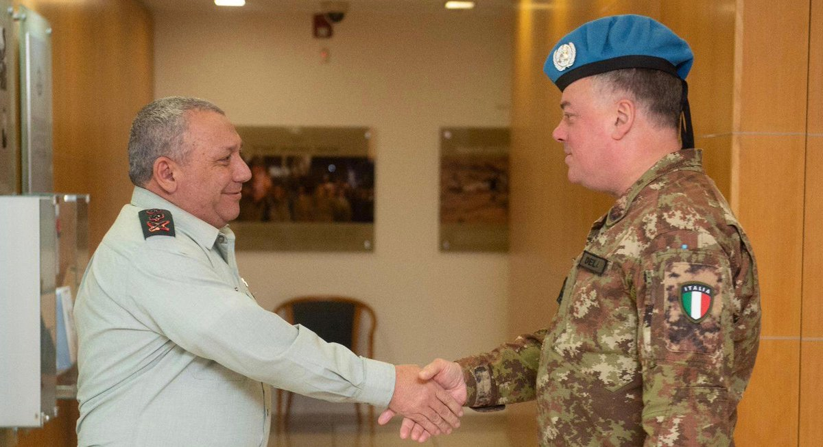 The Chief of the General Staff, Gadi Eisenkot briefed @UNIFIL_ Commander, MG @stefanodelcol, on Operation #NorthernShield and the IDF's fight against Hezbollah's attack tunnels.