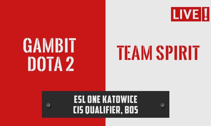 LIVE! Gambit [0:1] Team Spirit* #ESLOne 📺 * 1:0 upper bracket advantage. Foto