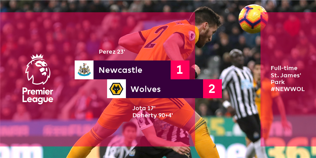 Matt Doherty's late header seals a dramatic win for Wolves as they move into the top-half  #NEWWOL