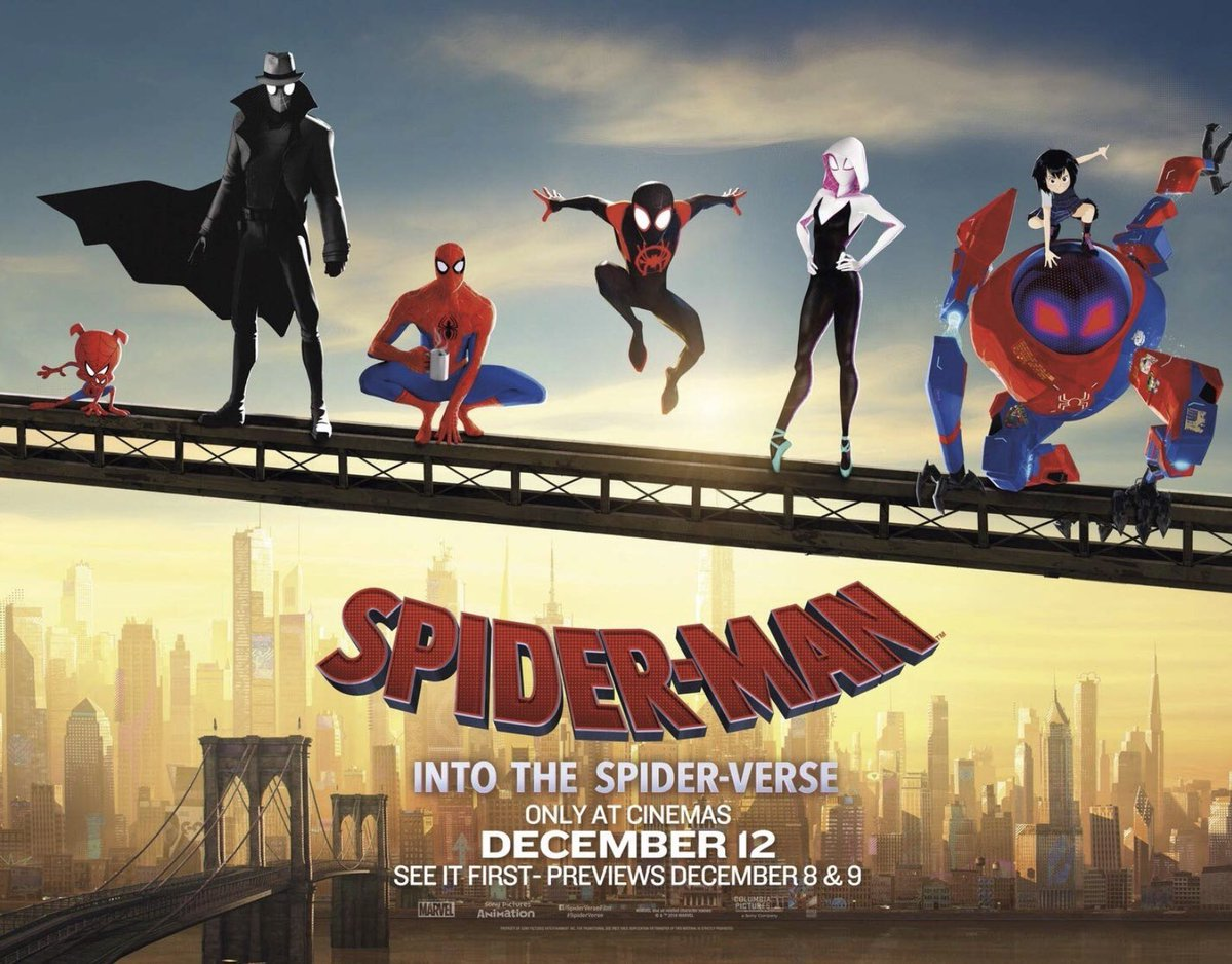SPIDER-MAN: INTO THE SPIDER-VERSE has to be the most fun, scenic and jawdropping Marvel movie I've seen in 2018.  Nominated for Best Animated Film in the upcoming Golden Globes, I'm vouching for it to win the category. Go watch it on the big screen  #RekomenFilem<br>http://pic.twitter.com/Bp1nJ886Wj